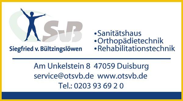 SPONSOREN Sanitätshaus Siegfried v. Bültzingslöwen